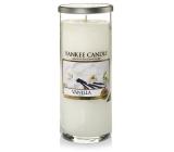 Yankee Candle Vanilla - Vanilka décor vonná svíčka velký válec sklo 75 mm 566 g