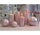 Lima Galaxy svíčka růžová koule 100 mm 1 kus