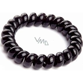 Vlasová gumička spirála plastová černá 5 x 0,8 cm 1 kus