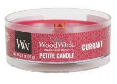 WoodWick Currant - Rybíz vonná svíčka s dřevěným knotem petite 31 g