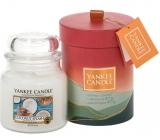 Yankee Candle Coconut Splash - Kokosové osvěžení vonná svíčka Classic střední sklo 411 g dárková sada 2018