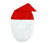 Mikuláš / Santa vánoční čepice s vousy