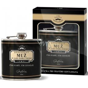 Nekupto Liga Pravých Gentlemanů Placatka Opravdový muž je jako dobrá whisky. Čím starší, tím cennější 150 ml