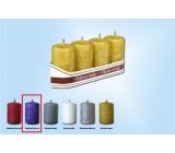 Lima Ledová svíčka fialová válec 40 x 70 mm 4 kusy