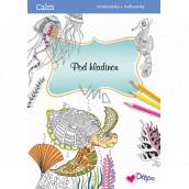 Ditipo Calm Pod hladinou relaxační omalovánky A4 32 stran