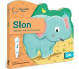 Albi Kouzelné čtení interaktivní minikniha s výsekem Slon, věk 2+