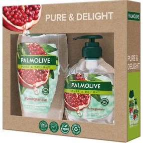 Palmolive Pure & Delight Pomegranate sprchový gel 250 ml + Pure & Delight Pomegranate tekuté mýdlo dávkovač 300 ml, kosmetická sada