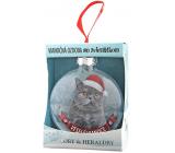 Albi Skleněná vánoční ozdobička se zvířátky - Britská kočka 7,5 cm x 8 cm x 3,6 cm