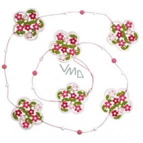 Řetěz květinový růžovo-bílý 118 cm 1 kus