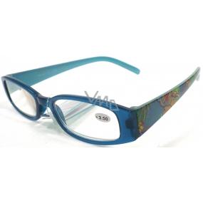 Berkeley Čtecí dioptrické brýle +3,5 modré s kytkama CB02 1 kus ER4130