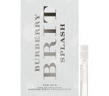 Burberry Brit Splash for Him toaletní voda 2 ml s rozprašovačem, Vialka