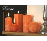 Lima Mramor Exotic vonná svíčka oranžová válec 50 x 100 mm 1 kus