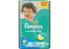 Pampers Active Baby Dry 4+ Maxi Plus 9-16 kg plenkové kalhotky 70 kusů