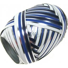 Nekupto Klubíčko Luxus stříbrná bílý a modrý pruh 162 40 KB 10 m