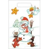 Anděl Igelitová taška malá Sněhulák 32 x 20 x 8 cm