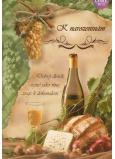 Albi Hrací přání do obálky K narozeninám Vínečko bílé 14,8 x 21 cm