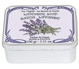 Le Blanc Lavander - Levandule přírodní mýdlo tuhé v krabičce 100 g