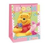 Ditipo Disney Dárková papírová taška pro děti M Medvídek Pú, prasátko, motýlek 18 x 10 x 22,7 cm