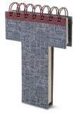 If Alphabooks Note Books Zápisník ve tvaru písmena T 91 x 14 x 124 mm