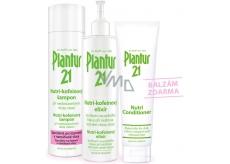 Plantur 21 Nutri-kofeinový šampon 250 ml + Nutri-kofeinový elixír 200 ml + Nutri balzám 150 ml, kosmetická sada