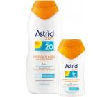 Astrid Sun OF20 Hydratační mléko na opalování 200 ml + Sun OF10 Hydratační mléko na opalování 100 ml, duopack