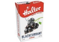 Halter Blackcurrant - Černý rybíz bonbony bez cukru, s přírodním sladidlem Isomalt, vhodné i pro diabetiky 40 g