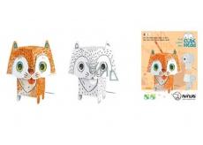 Monumi 3D Kočka v vymalování +/- 19,5 cm, 5+