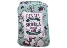 Albi Skládací taška na zip do kabelky se jménem Renata 42 x 41 x 11 cm