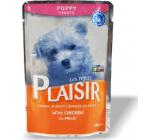 Plaisir Dog s kuřecím kompletní krmivo pro štěňata 100 g