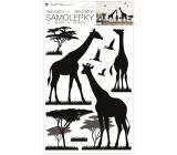 Room Decor Samolepka na zeď černá žirafy 24 x 42 cm