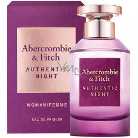 Abercrombie & Fitch Authentic Night Woman parfémovaná voda pro ženy 100 ml