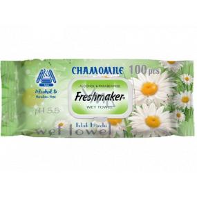 Freshmaker Chamomile - Heřmánek vlhčené ubrousky 100 kusů