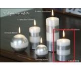 Lima Elegance White svíčka stříbrná válec 60 x 90 mm 1 kus