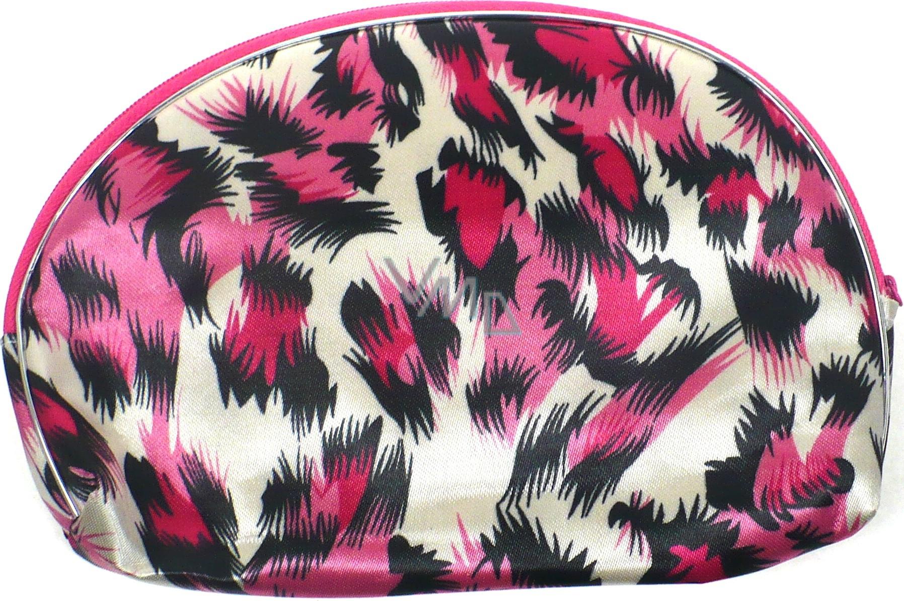 Etue Tygrovitá bílo-růžovo-černá 13 x 10 x 1,5 cm 1 kus 70100