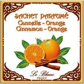 Le Blanc Cinnamon Orange - Skořice a pomeranč Vonný sáček Skořice a pomeranč 11 x 11 cm 8 g