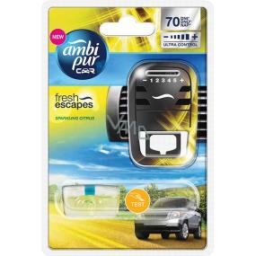 Ambi Pur Car Sparkling Citrus kompletní strojek 7 ml