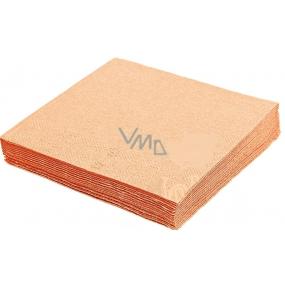 Gastro Papírové ubrousky barevné apricot - broskvové 2 vrstvé 33 x 33 cm 50 kusů