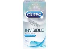 Durex Invisible Extra Thin Extra Sensitive kondomy extra tenké, extra citlivé Nominální šířka: 52 mm 10 kusů
