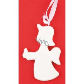 Keramický anděl k zavěšení 7,5 cm