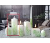 Lima Květinová svíčka zelená válec 60 x 150 mm 1 kus