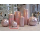 Lima Galaxy svíčka růžová koule 60 mm 1 kus