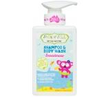 Jack N Jill BIO Sweetness Sladkost 2v1 sprchový gel a šampon pro děti dávkovač 300 ml