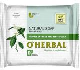 O Herbal Natural Neroli a bílá hlína toaletní mýdlo 100 g