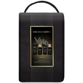 Baylis & Harding Černý pepř a Ženšen 2v1 šampon a sprchový gel 100 ml + pleťový mycí gel 100 ml + balzám po holení 50 ml + sprchový gel 50 ml + taška, kosmetická sada