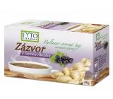 Fytopharma Zázvor s černým rybízem bylinno - ovocný čaj pro normální činnost cévní soustavy a osvěžení 20 x 2 g