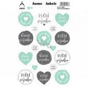 Arch Domácí etikety Home Labels samolepky Ruční výroba 12 x 18 cm