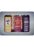 Bohemia Gifts Gentleman sprchový gel pro muže 250 ml + Whiskey sprchový gel pro muže 250 ml + Rum sprchový gel pro muže 250 ml, plechový box kosmetická sada