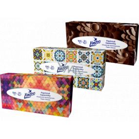 Linteo Satin papírové kapesníčky 2 vrstvé 100 kusů krabička