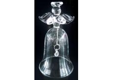 Anděl zvon ze skla 10 cm