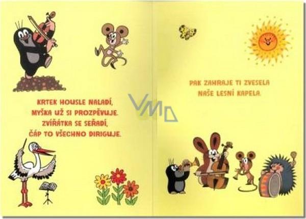 přání k 1 narozeninám texty Albi Hrací přání do obálky K narozeninám Krteček chystá překvapení  přání k 1 narozeninám texty